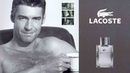 Ian Lawless staring at Lacoste's Pour Homme Parfum 2002