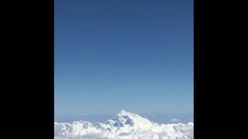 🙏Пролетая над Эверестом.✈️ Перелёт Паро ( аэропорт в Бутане) - Катманду ( Непал). 🙏Лучше гор могут быть только горы, на которых