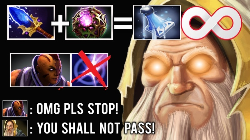 WTF CAN'T BLINK INFINITY MANA LEAK Toying AM Pro Kotl Scepter Most Crazy Gameplay Imba Dota 2