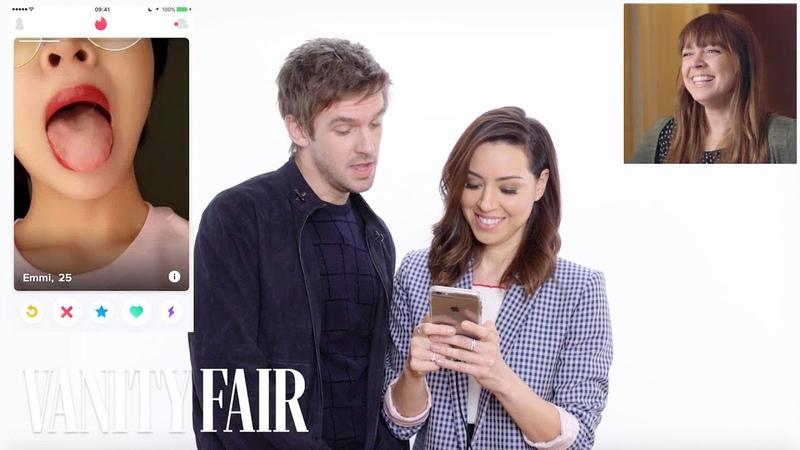 Aubrey Plaza and Dan Stevens Hijack a Strangers Tinder | Vanity Fair
