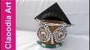 Sowa i biret z papierowej wikliny (Owl and student hat, wicker paper, DIY)