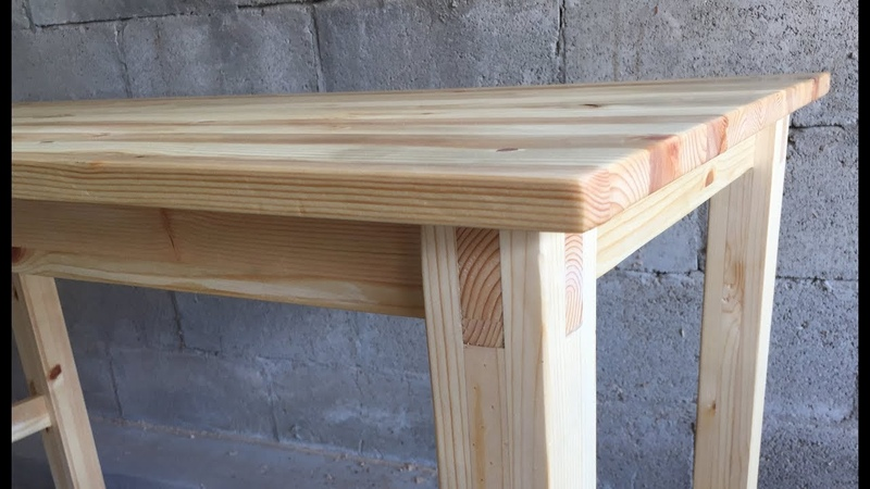 [목공 Woodworking] 심플한 원목 책상 만들기 Making A Simple Wood Desk Joined With Dowels