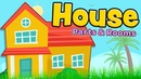 House parts and rooms English for kids and beginners
