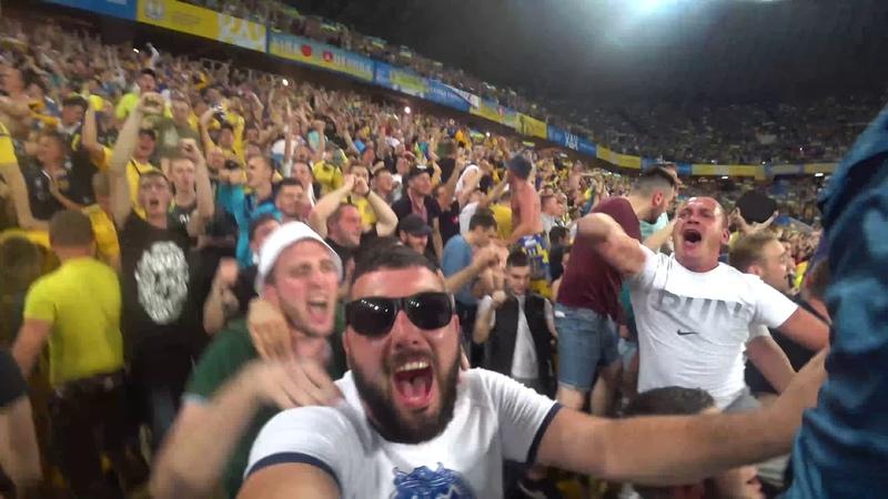 Львів Емоції на стадіоні Україна 5-0 Сербія.