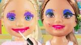 МАКИЯЖ В ШКОЛУ! Мультик с куклами Барби мультфильм