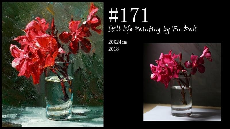 171 Still life flower Oil Painting by Fu Dali