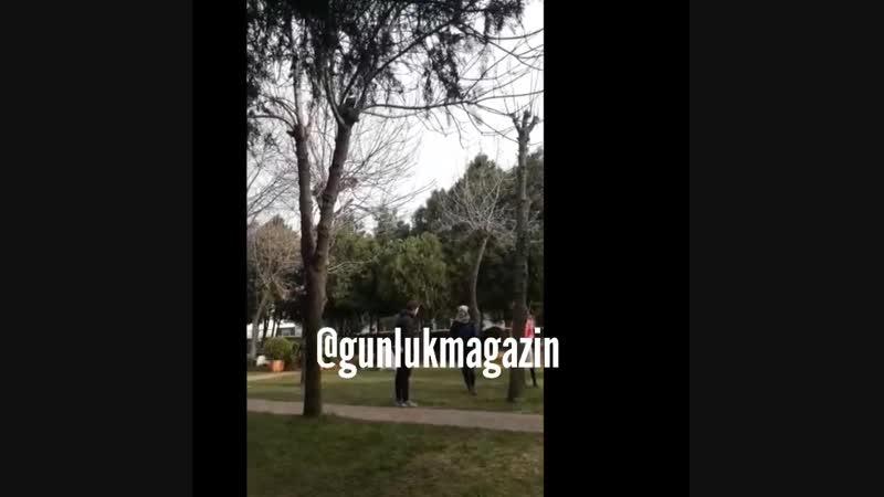 Кристен Стюарт на съемках фильма Ангелы Чарли в Стамбуле Турция