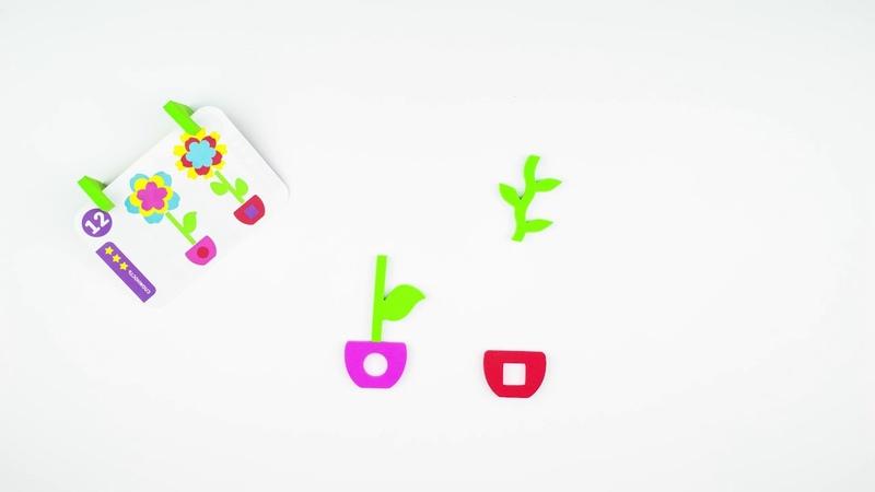 07-001 Развивающая игра с карточками Повторяй-ка. Цветочки