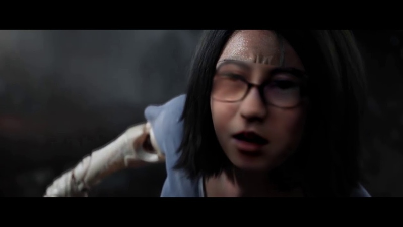 DIGITAL HELL - Alita battle angel trailer without CGI face (deepfakes) behind the scenes