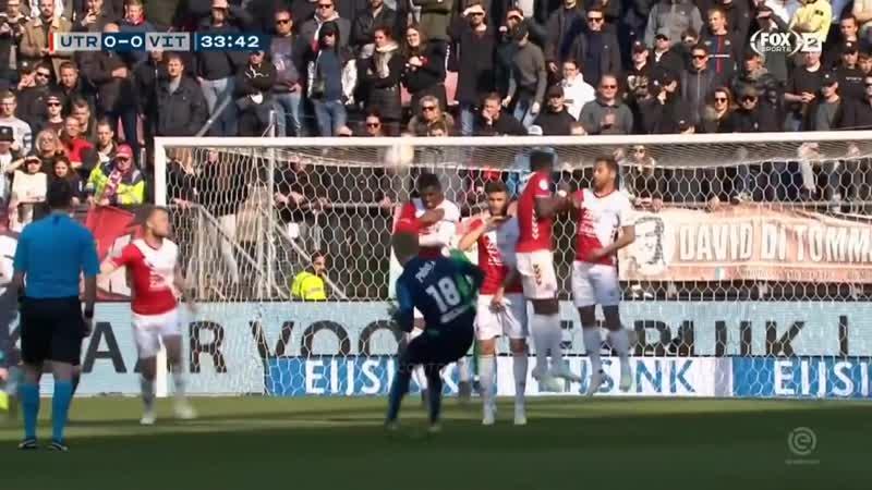 Индивидуальные действия Мартина Эдегора в матче Утрехт - Витесс (0:0)