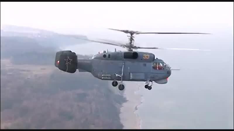 Посадки вертолетов Ка-27 на палубы кораблей Балтийского флота.