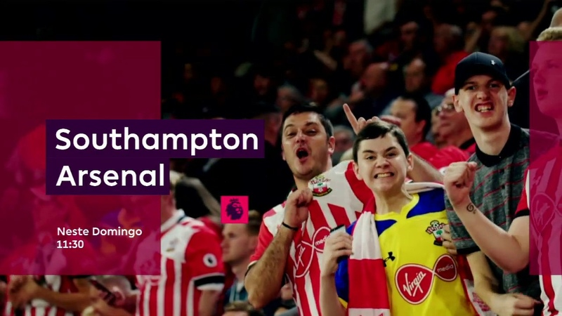 Arsenal e Southampton se enfrentam pela Premier League, no domingo