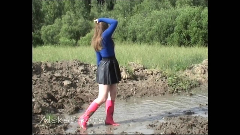 Girl Christine with rubber boots. Part-1(01/07/16)