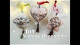 DIY Vintage Mixed Media Clay Ornaments