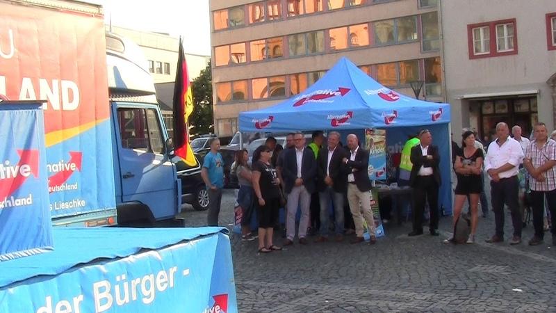AFD Kundgebung Dessau Schützt unsere Frauen und Kinder 17 Juni 2019