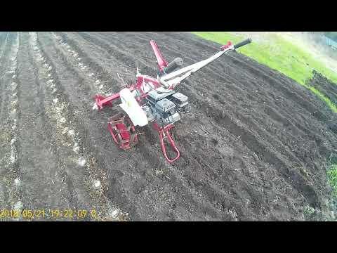 Мотоблок Weima 1050.Садим картошку.