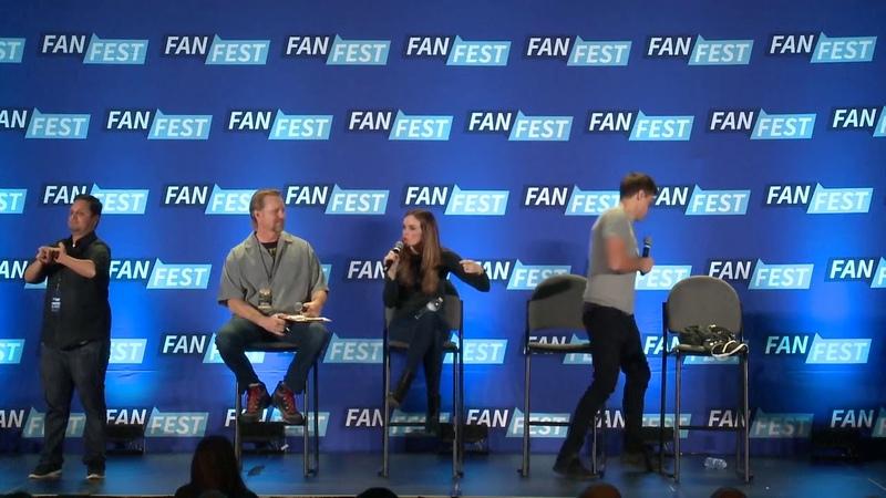 Arrow : Danielle Panabaker, Candice Patton, Hartley Sawyer Fan Fest San Jose 2018