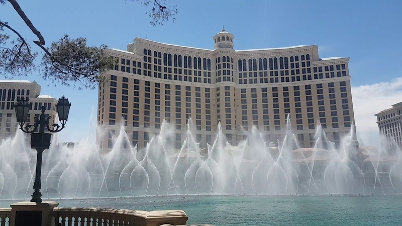 Live-Stanley Cup Pre Show Panic at the Disco High Hopes - Vegas Bellagio Fountain