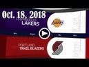 2018.10.18 NBA DAILY RECAP : LAL @ POR