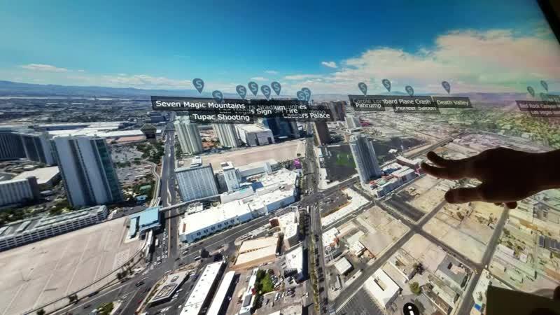вид с самой высокой башни на Лас Вегас