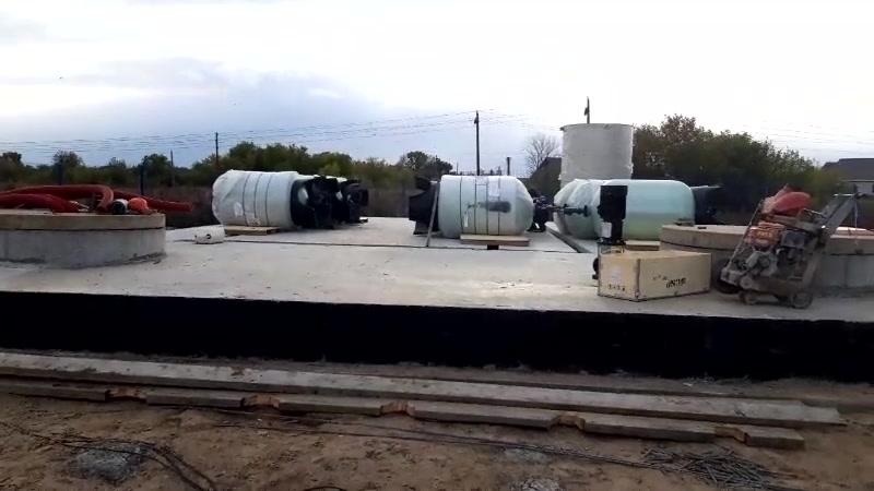 Строительство станции водоочистки производительностью 60м3/час