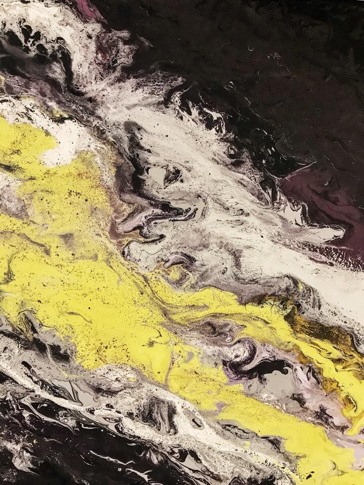 флюид арт, fluid art, техника рисования