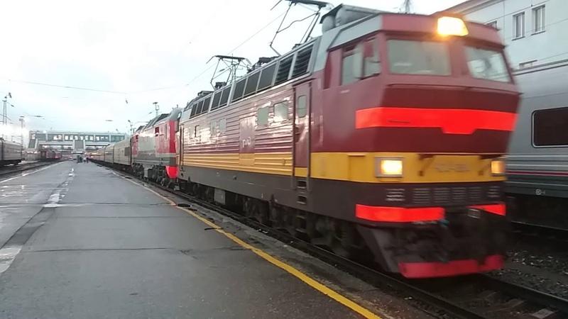 ЧС4Т-384 и ЭП2К с поездом 070 Москва - Чита