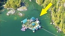 Семейная пара уже 25 лет живёт в прямом смысле на плаву они построили огромный дом на воде