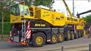 Gigantischer Klug Autokran mit acht Achsen im Einsatz Erfurt 2016