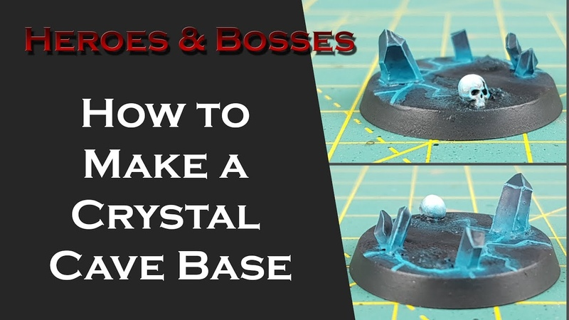 Paint-tech 19 - Blackstone Fortress Crystal Cave Bases