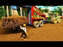 RC TRACTOR transplant a big Tree - AWESOME RC TOYS on the model farm at work