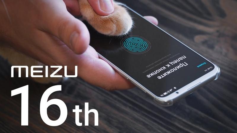 Удивительный Meizu 16th: кошка разблокирует смартфон