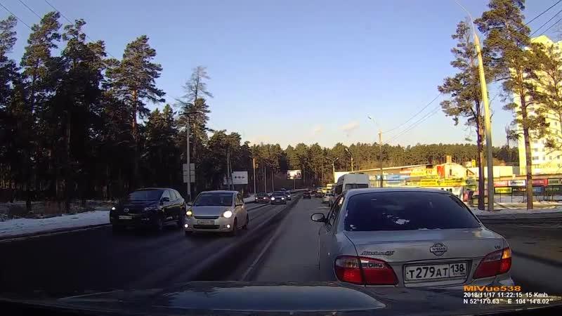 ДТП из-за нехорошего водителя.