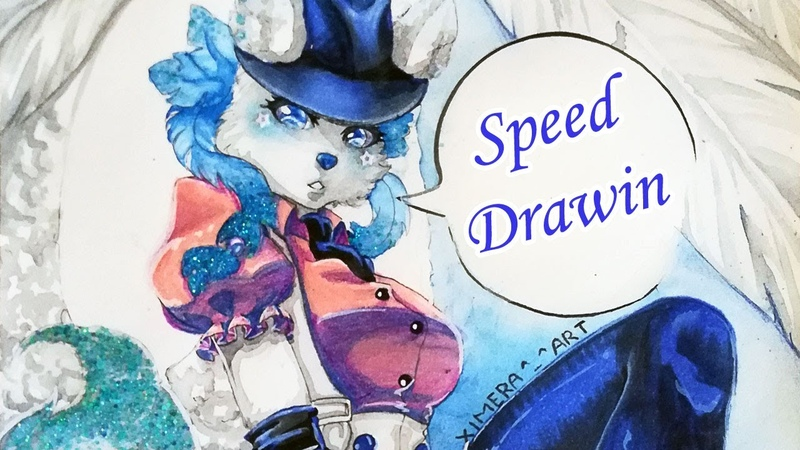 [Marker Touch Five, Watercolor (pen)] Speed Drawing - furri Ximera-chan