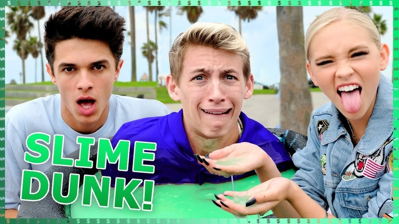 SLIME DUNK CHALLENGE | Do It For The Dough w Brent Rivera Light as a Feather Cast