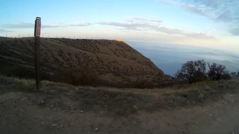 The road under the lighthouse on Meganom Crimea. Дорога под маяк на Меганоме республика Крым.