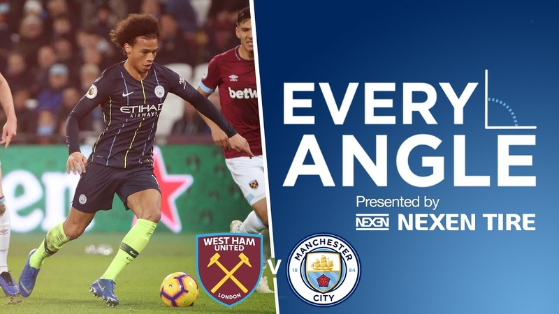 Super Smooth Finish From Sane! | Every Angle | West Ham 0-4 City