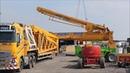Großer Mobilkran Terex AC 1000 Aufbau Ausleger