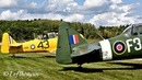 [HD] Two T-6 Harvard IV start up, taxiing fly over - Aero Gatineau Ottawa 2018