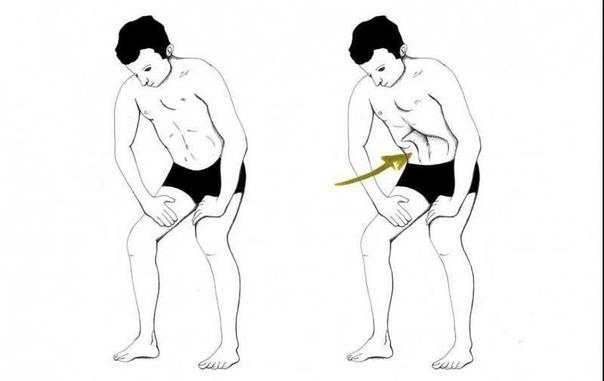 При выполнении этого упражнения вызывается АКТИВНАЯ циркуляция крови в области живота и таза, что помогает при язвах, гастритах, колитах, женских болезнях, геморрое, простатите, заболеваниях печени, почек, желчного пузыря и поджелудочной железы, мочевого