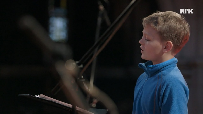 Treble Aksel Rykkvin (12y) and the Orchestra of the Age of Enlightenment - NRK TV English subtitles