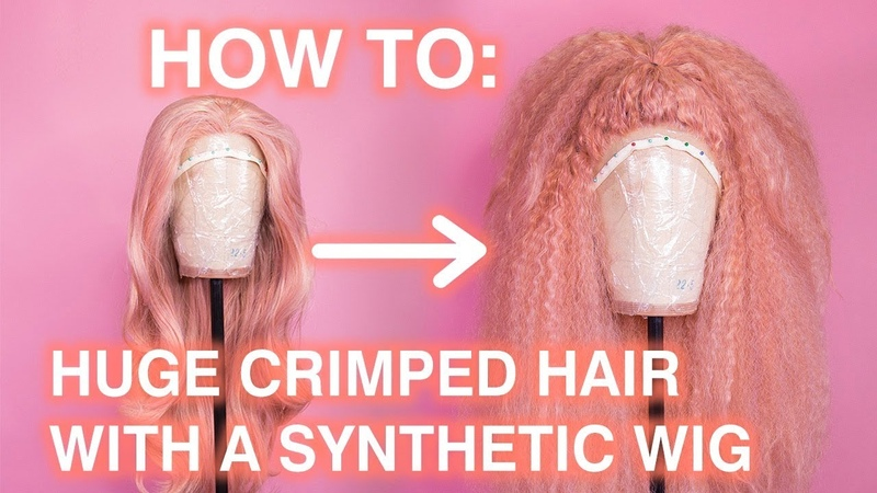How To Style Huge Crimped Hair with a Synthetic Wig