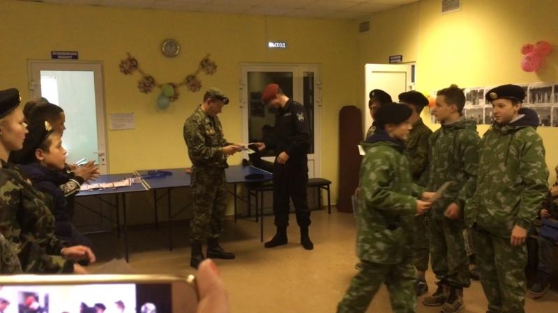 Награждение бойцов отряда «Барс»
