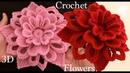 Como hacer flores en 3D a Crochet Irlandés tejidas en punto tunecino tejido tallermanualperu