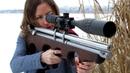 AIR GUN pcp Винтовка 4 5мм Пневматика CUSTOM Air rifle 177 cal Leapers UTG girl shooting