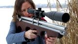 AIR GUN pcp Винтовка 4.5мм Пневматика ( CUSTOM Air rifle ) .177 cal Leapers UTG girl shooting