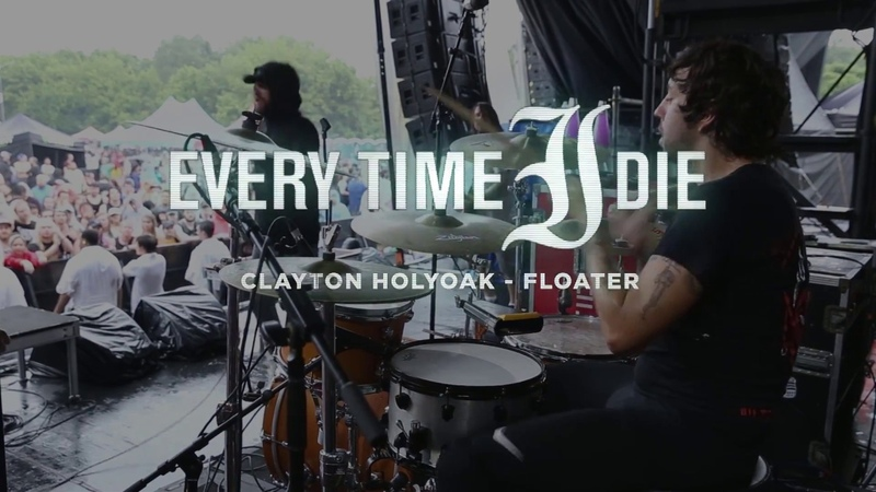 Every Time I Die - Floater [Goose Holyoak] Drum Cam [Van's Warped Tour] 2018