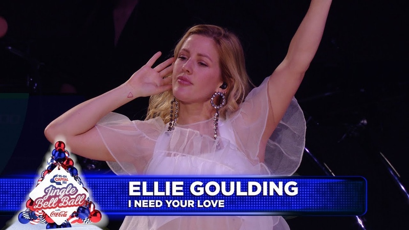 Ellie Goulding 'I Need Your love' Live at Capital's Jingle Bell Ball 2018