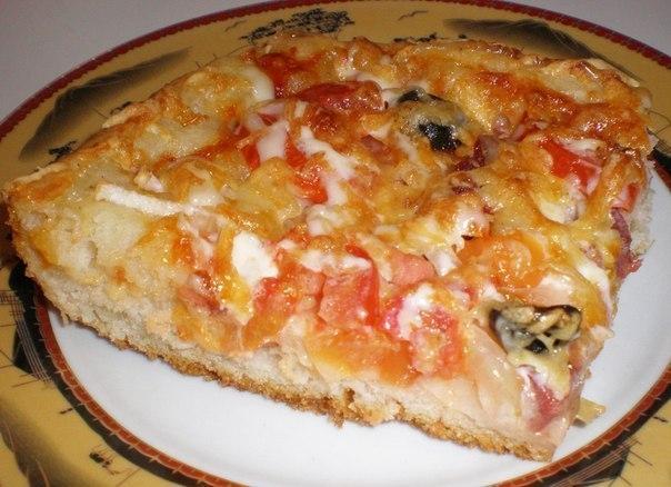 Рецепт вкуснейшей домашней пиццы!
