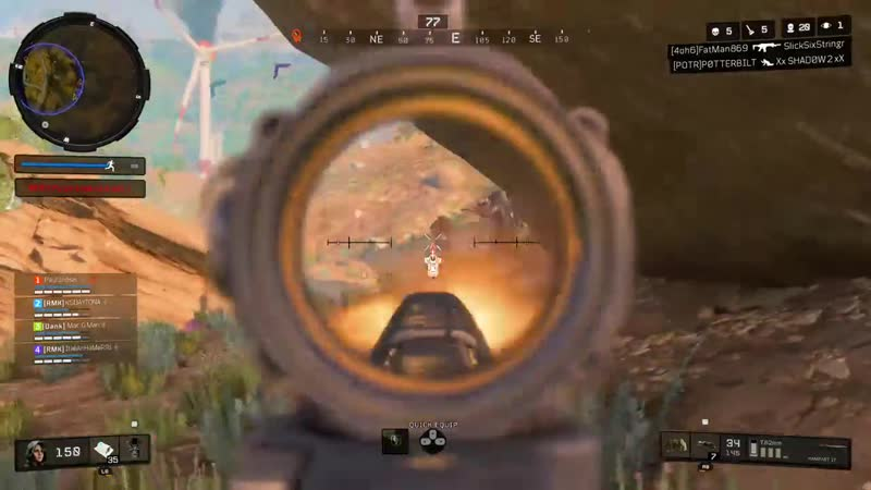 Killing 3 level 3's with one clip. Black Ops 4